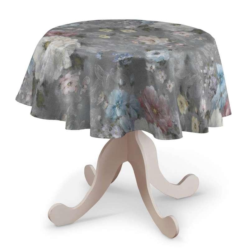 Rund bordsduk i kollektionen Monet, Tyg: 137-81