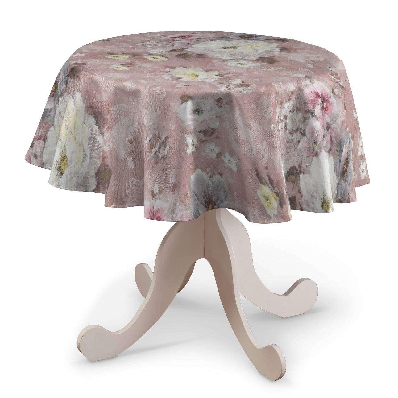 Rund bordsduk i kollektionen Monet, Tyg: 137-83
