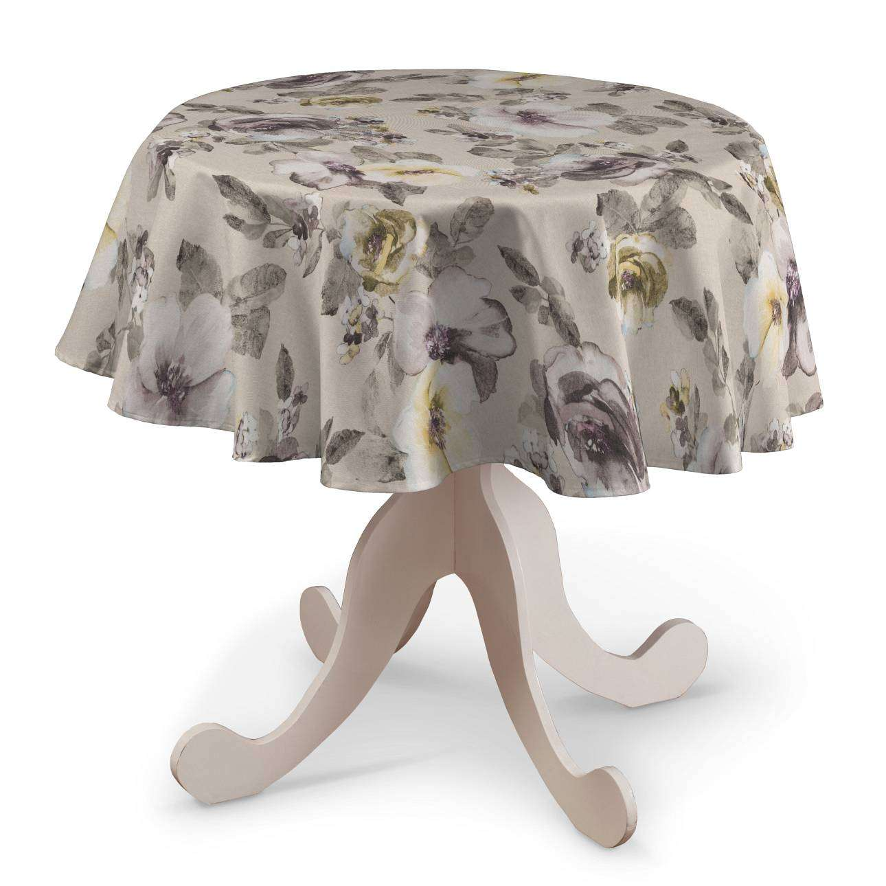 Round tablecloth in collection Londres, fabric: 140-44