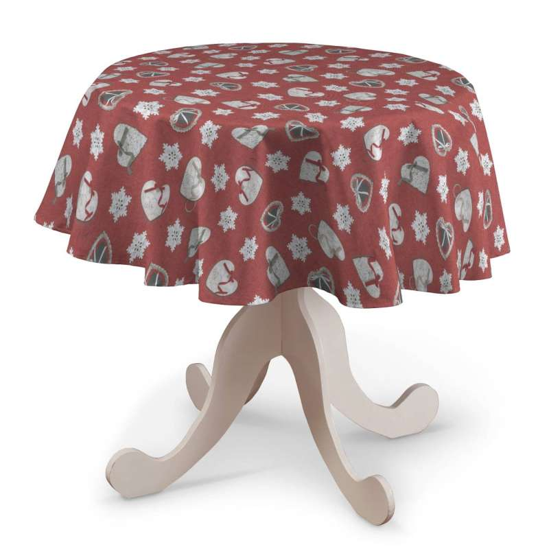 Round tablecloth in collection Christmas, fabric: 629-29