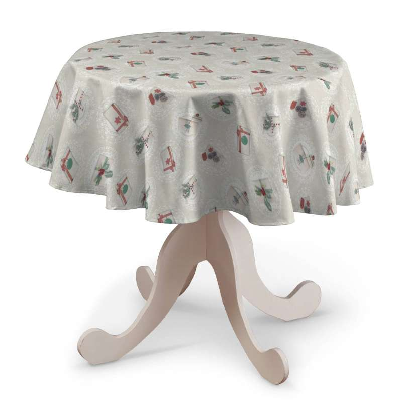 Round tablecloth in collection Christmas, fabric: 629-30