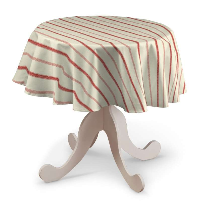 Runde Tischdecke von der Kollektion Avinon, Stoff: 129-15