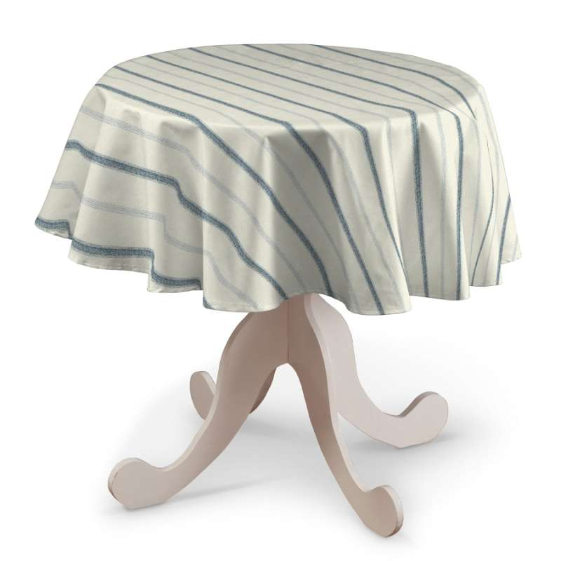 Rund bordsduk i kollektionen Avinon, Tyg: 129-66
