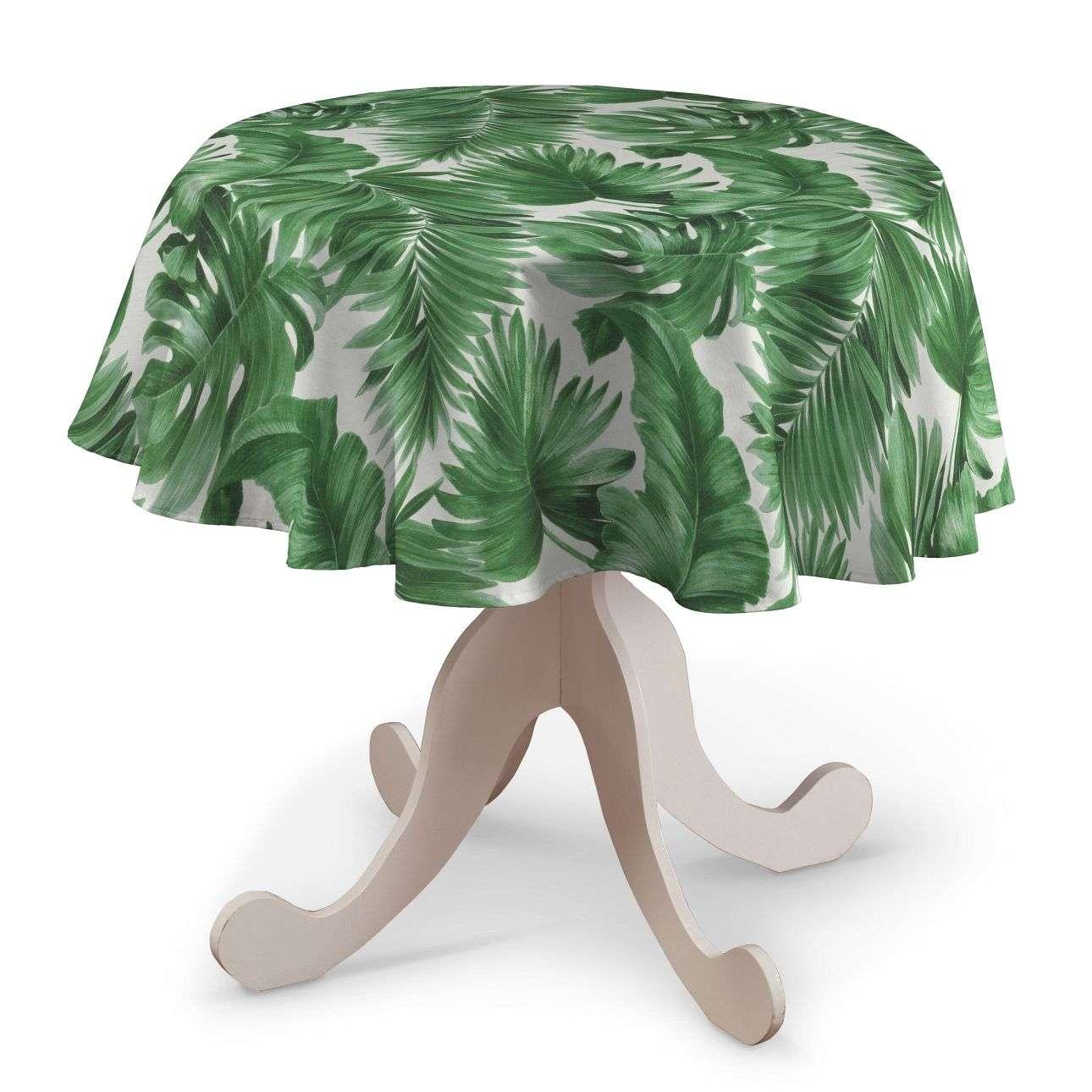 Runde Tischdecke, grün-weiß, Ø 135 cm, Urban Jungle   Heimtextilien > Tischdecken und Co   Dekoria