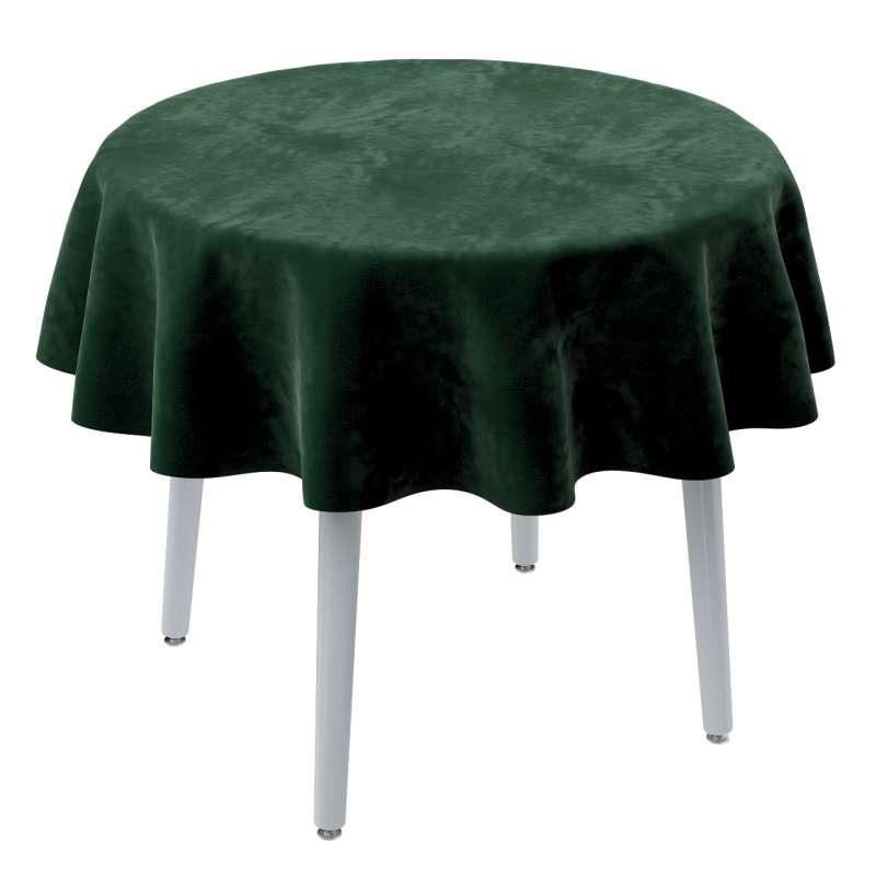 Runde Tischdecke von der Kollektion Velvet, Stoff: 704-13