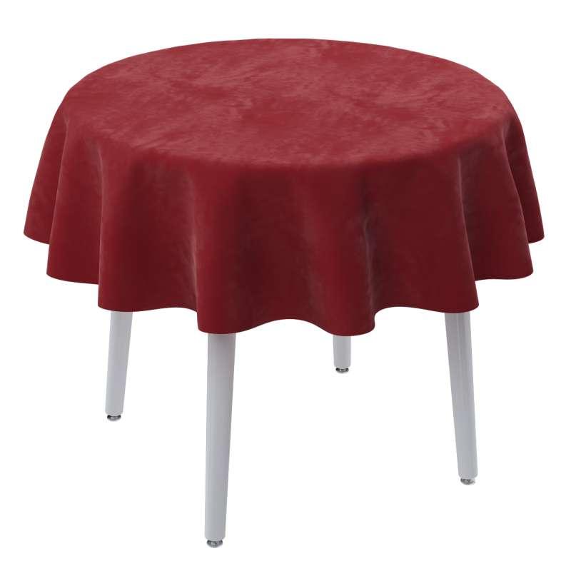Pyöreä pöytäliina mallistosta Velvet, Kangas: 704-15