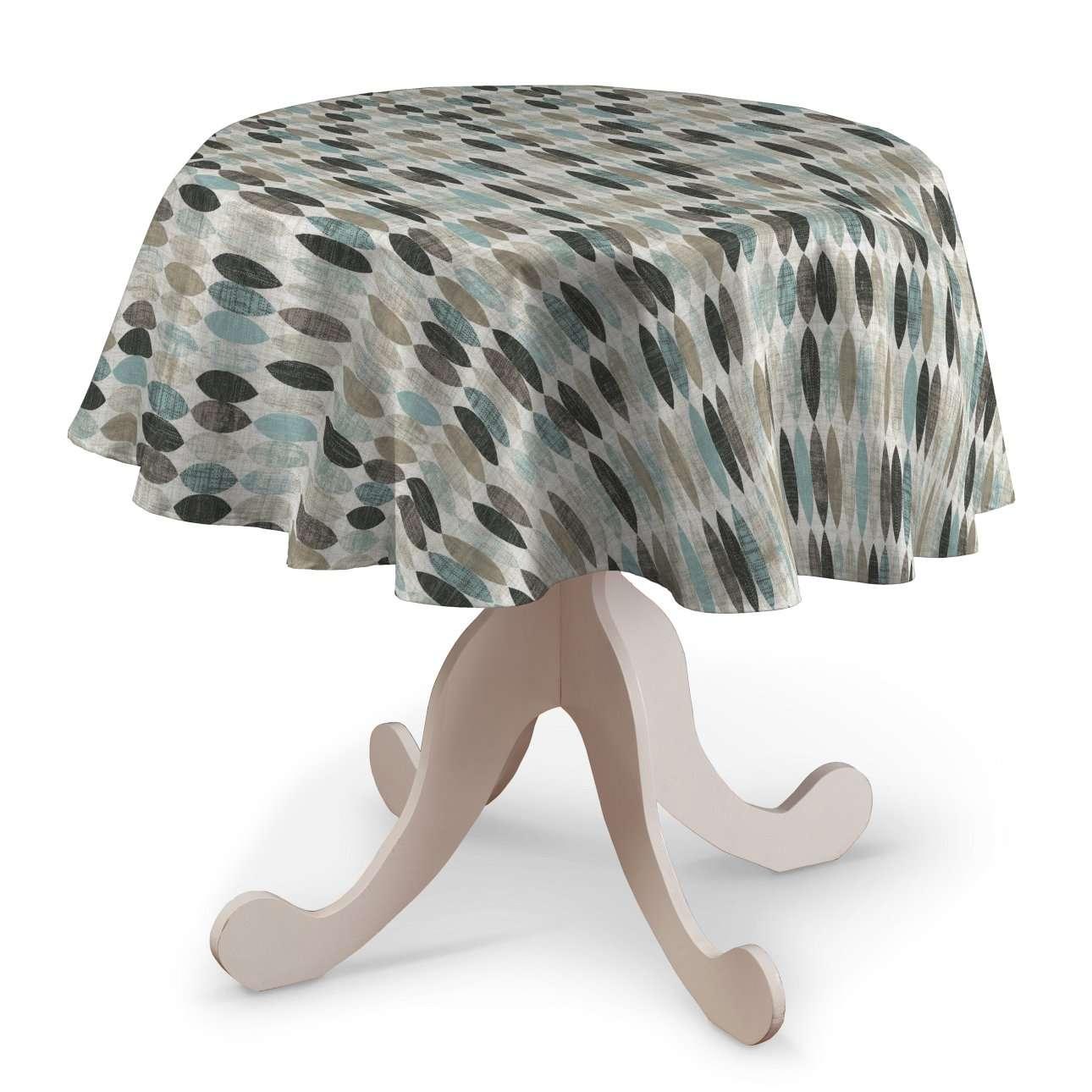 Runde Tischdecke, blau-beige, Ø 135 cm, Modern | Heimtextilien > Tischdecken und Co > Tischdecken | Dekoria