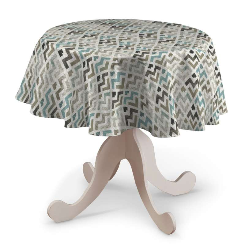 Rund bordsduk i kollektionen Modern, Tyg: 141-93