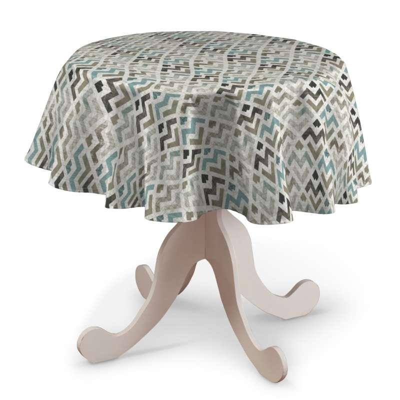 Runde borddug fra kollektionen Modern, Stof: 141-93