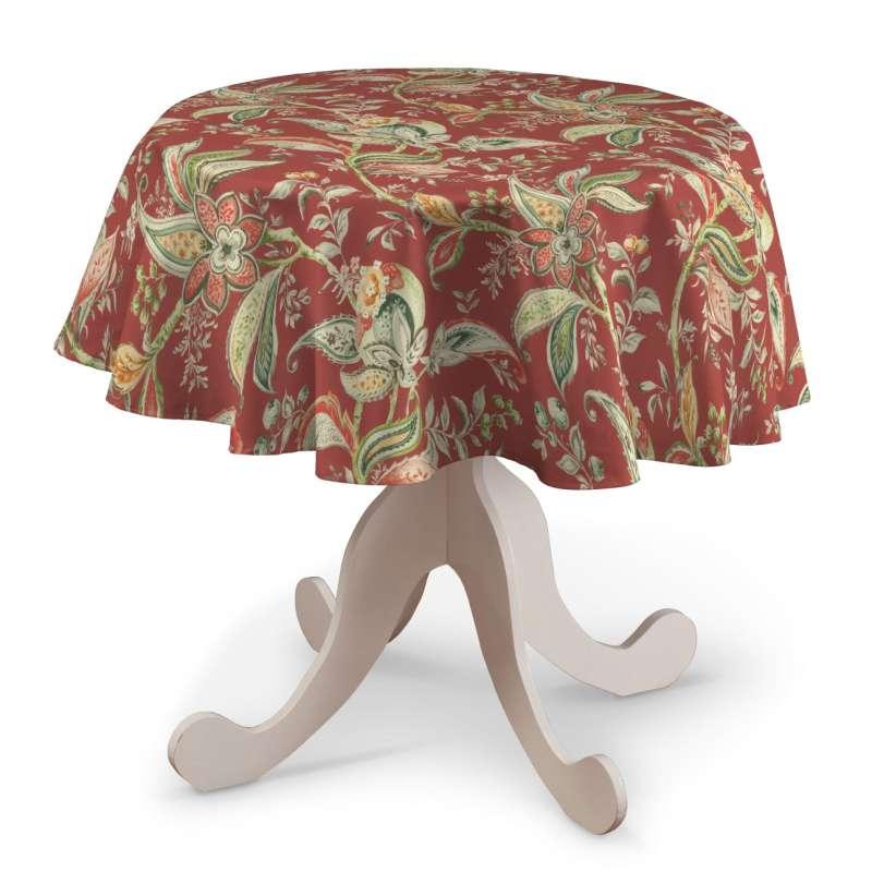 Rund bordsduk i kollektionen Gardenia, Tyg: 142-12