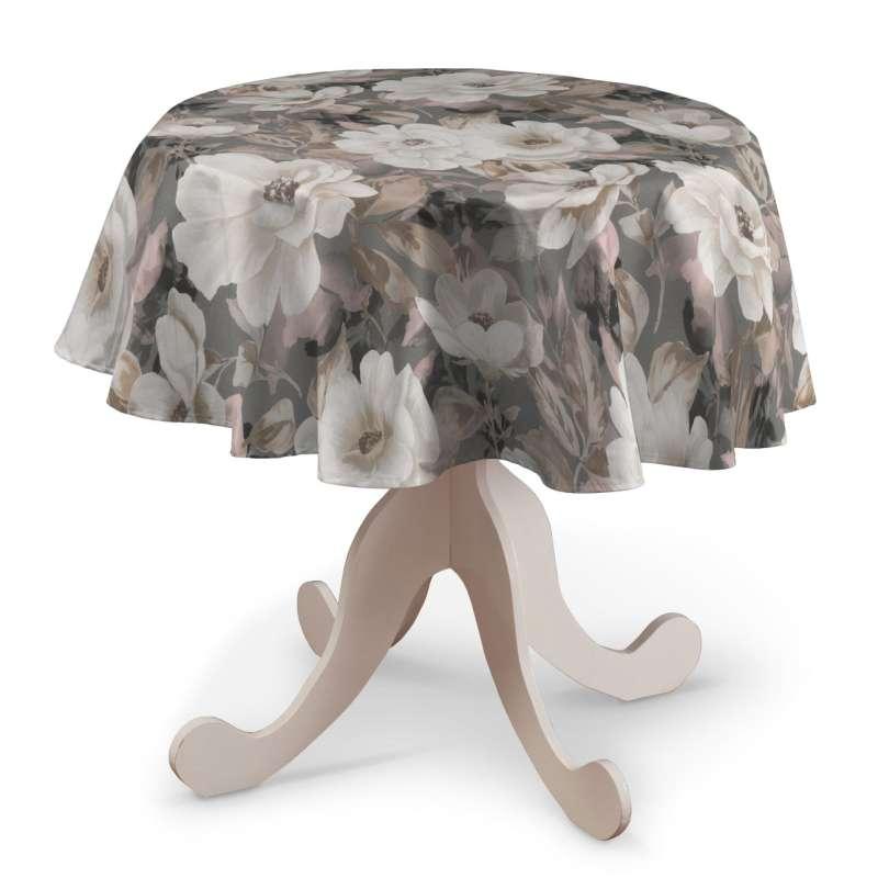 Rund bordsduk i kollektionen Gardenia, Tyg: 142-13