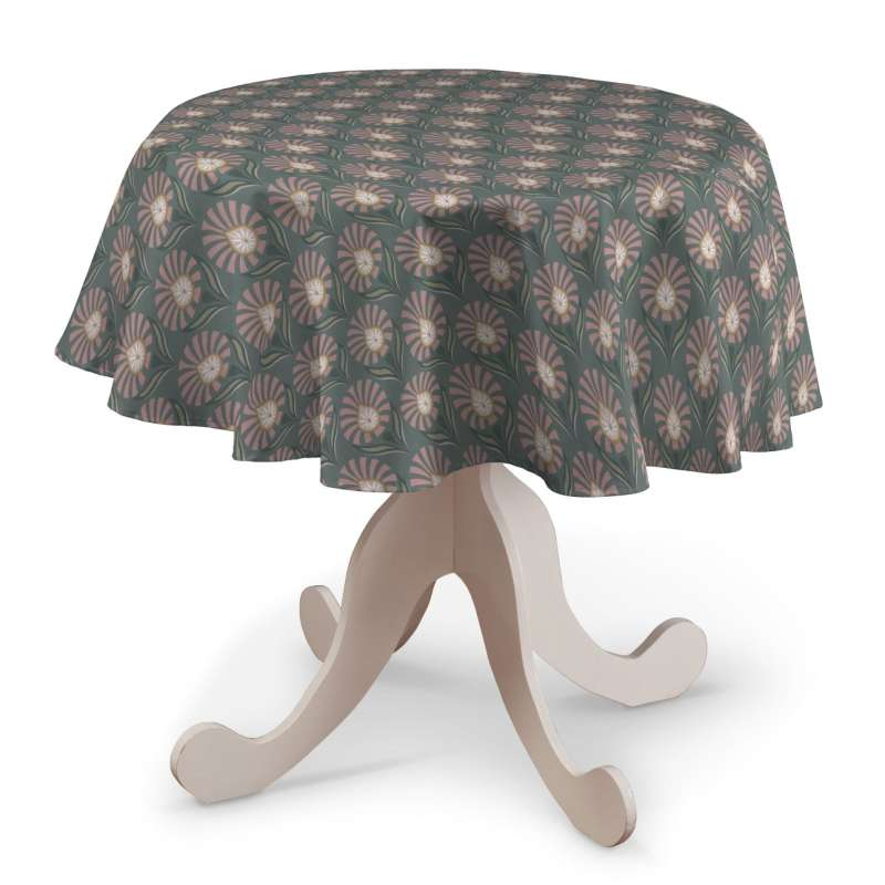 Round tablecloth in collection Gardenia, fabric: 142-17