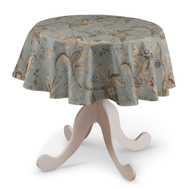 Runde borddug fra kollektionen Gardenia, Stof: 142-18