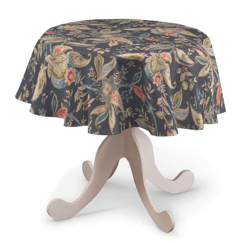 Rund bordsduk i kollektionen Gardenia, Tyg: 142-19