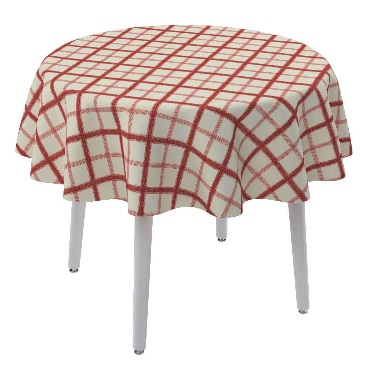 Runde borddug Ø 135 cm fra kollektionen Avinon, Stof: 131-15