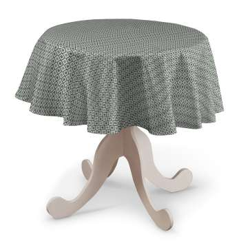 Round tablecloth in collection Black & White, fabric: 142-76