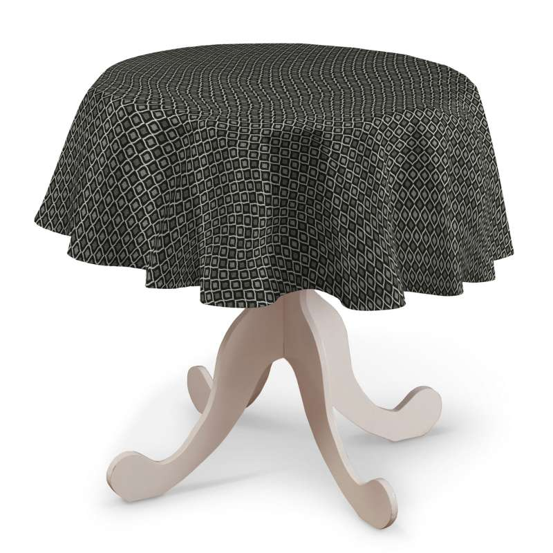 Round tablecloth in collection Black & White, fabric: 142-86