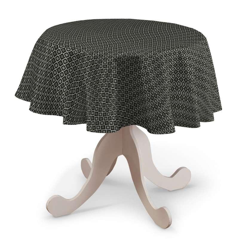 Rund bordduk fra kolleksjonen Black & White, Stoffets bredde: 142-86