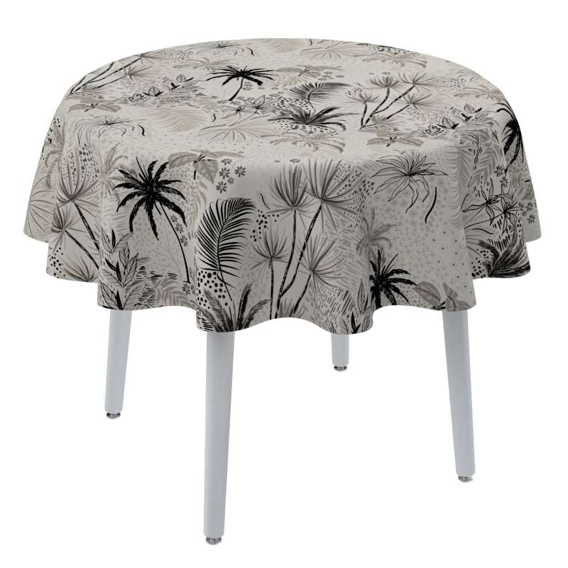 Round tablecloth in collection Tropical Island, fabric: 142-97