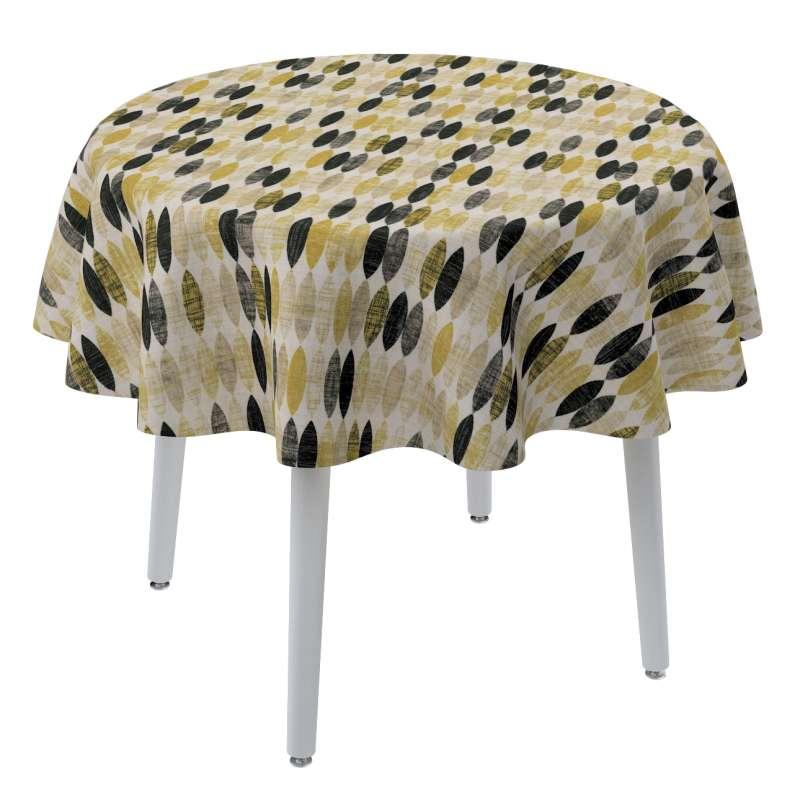 Rund bordsduk i kollektionen Modern, Tyg: 142-99