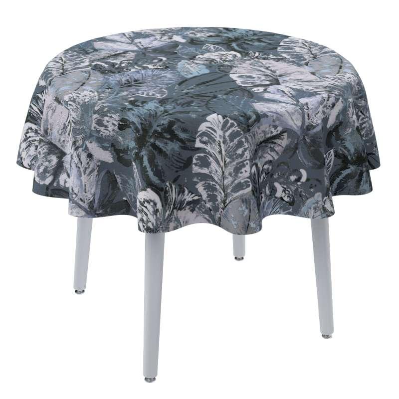 Rund bordsduk i kollektionen Abigail, Tyg: 143-18