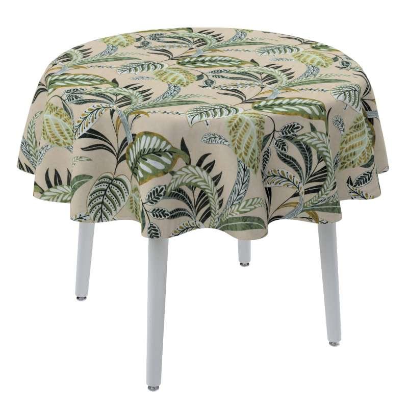 Rund bordsduk i kollektionen Tropical Island, Tyg: 142-96