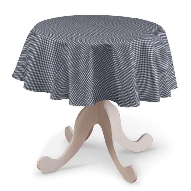 Rund bordsduk i kollektionen Quadro II, Tyg: 136-00