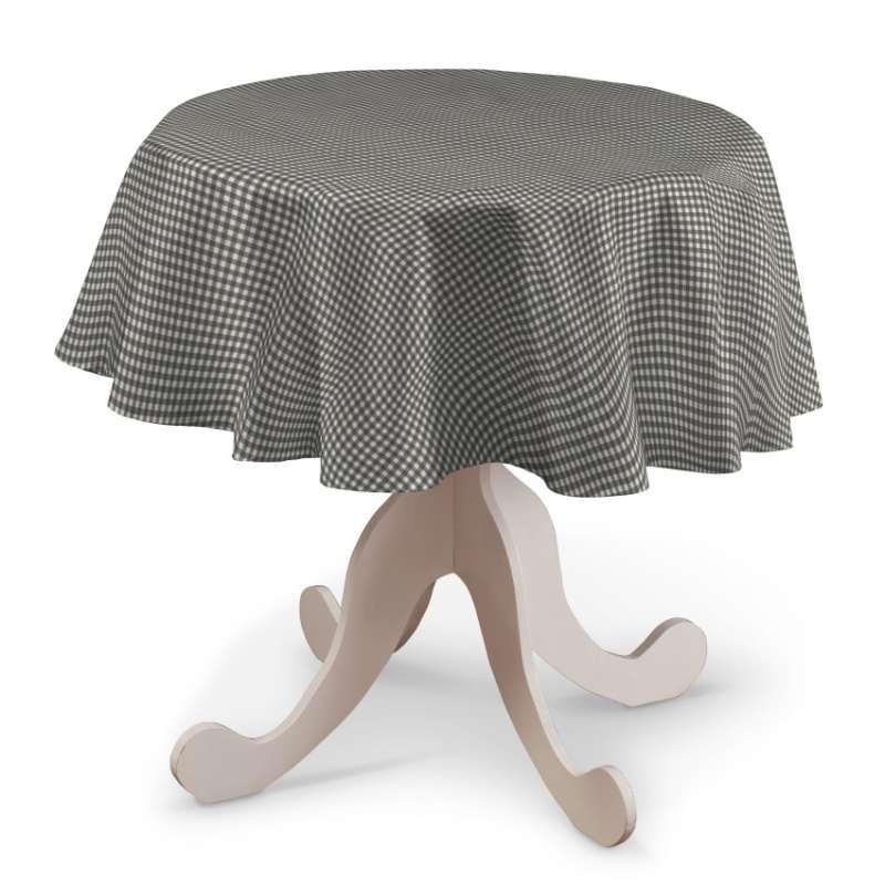 Rund bordsduk i kollektionen Quadro II, Tyg: 136-10