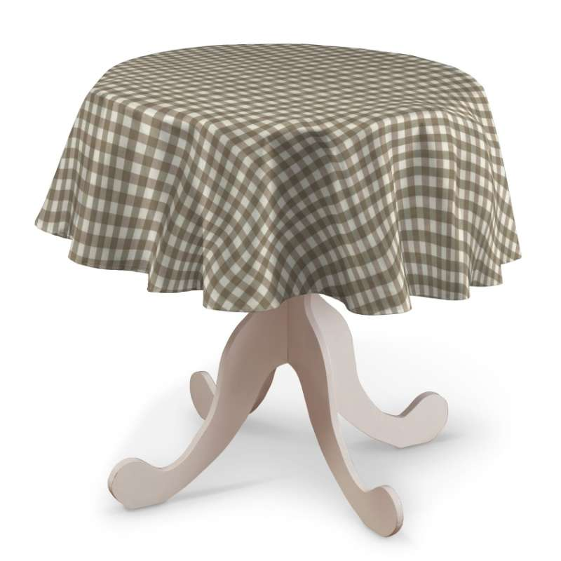 Runde borddug fra kollektionen Quadro II, Stof: 136-06