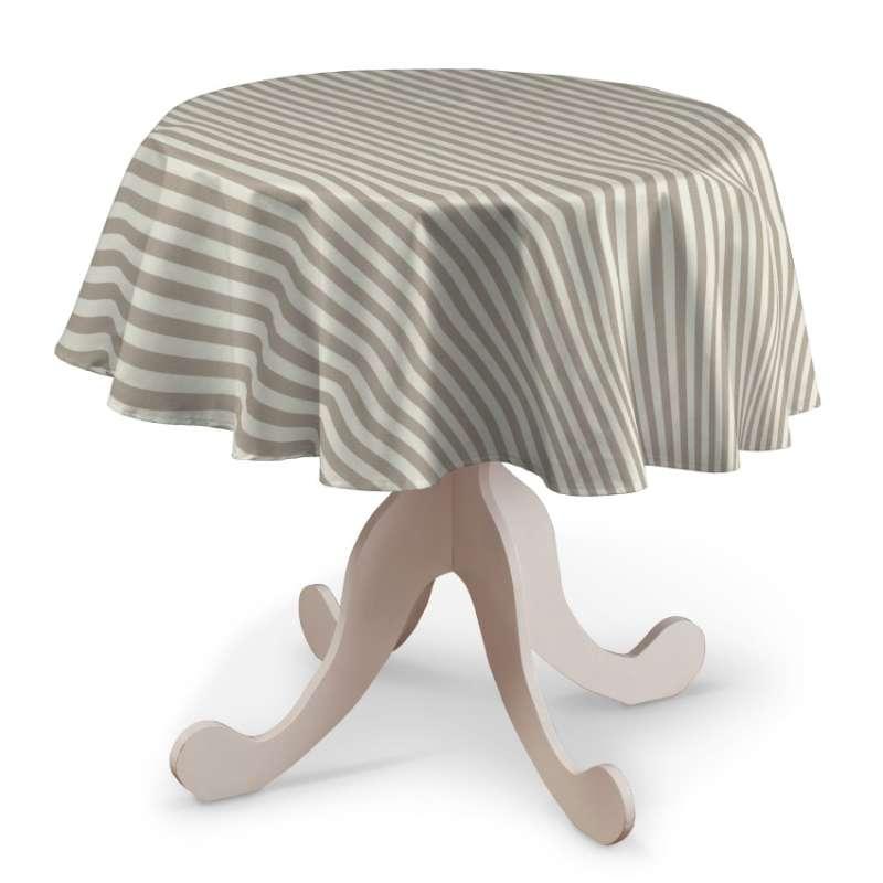 Rund bordsduk i kollektionen Quadro II, Tyg: 136-07