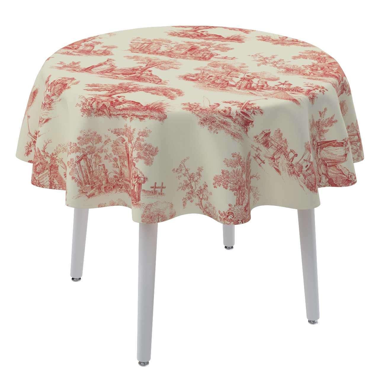 Runde Tischdecke Ø 135 cm von der Kollektion Avinon, Stoff: 132-15