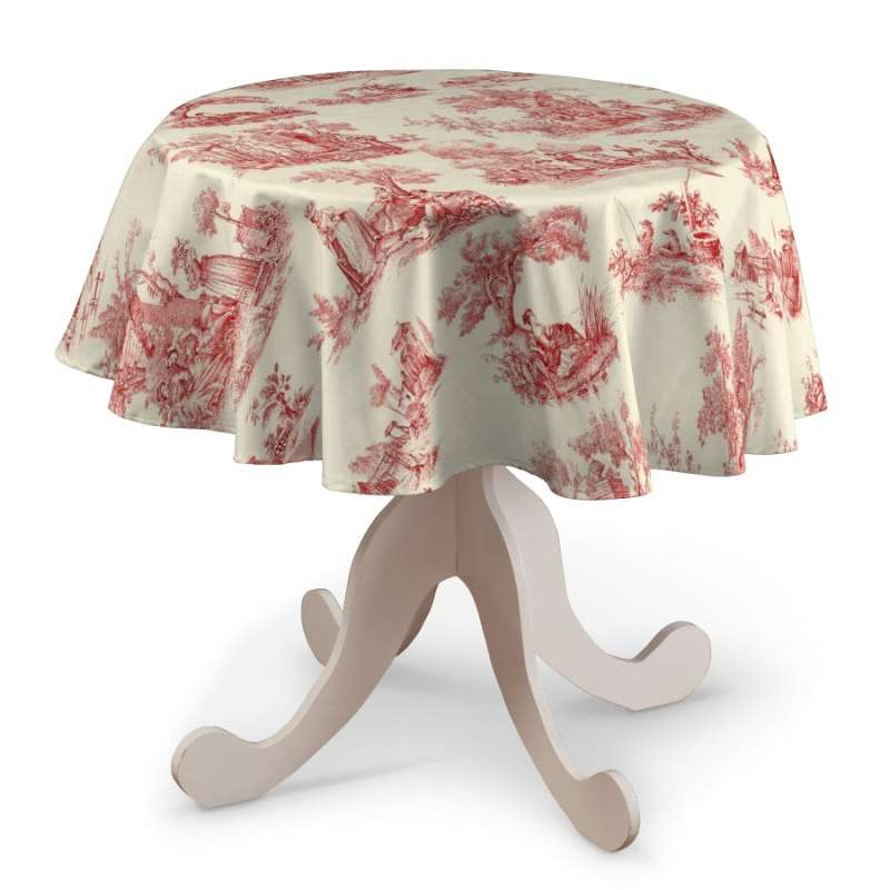 Round tablecloth in collection Avinon, fabric: 132-15