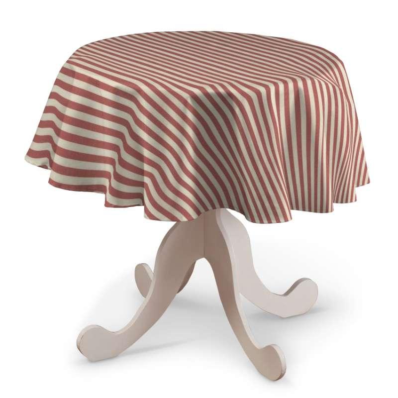 Rund bordsduk i kollektionen Quadro II, Tyg: 136-17