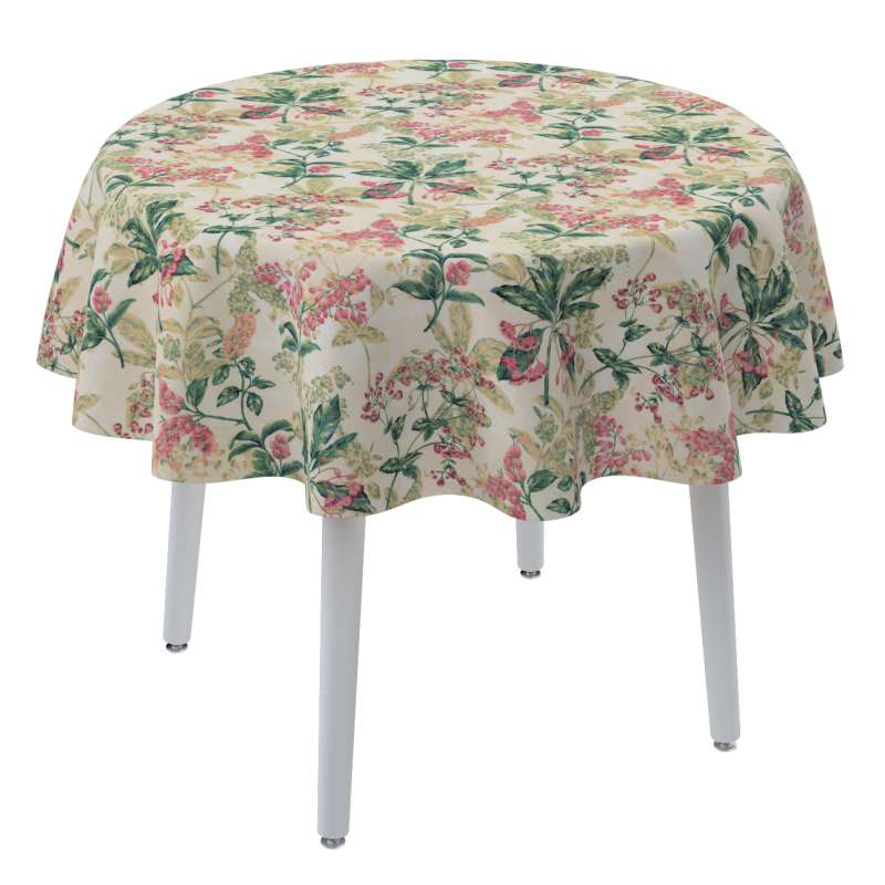 Round tablecloth in collection Londres, fabric: 143-41