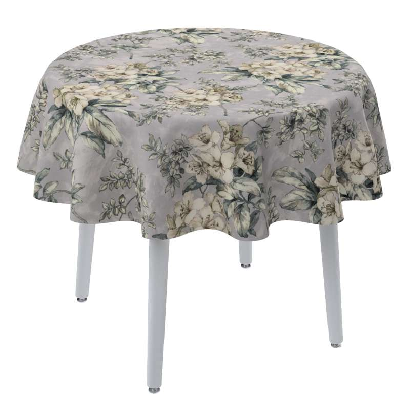 Round tablecloth in collection Londres, fabric: 143-36