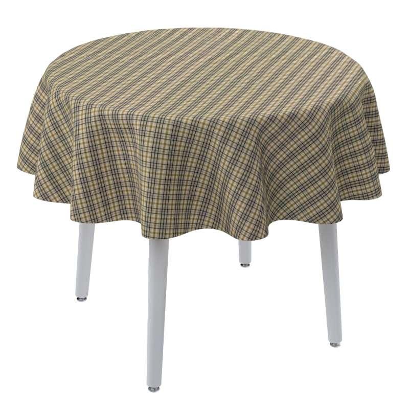 Rund bordsduk i kollektionen Londres, Tyg: 143-39