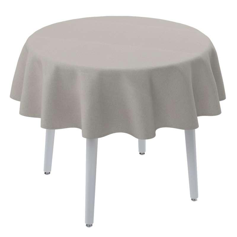 Runde Tischdecke von der Kollektion Leinen, Stoff: 159-07