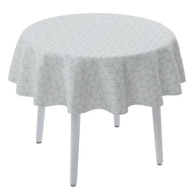 Runde Tischdecke 143-51 weiß Kollektion Sunny