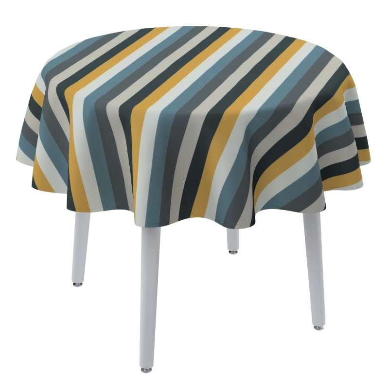 Rund bordsduk i kollektionen Vintage 70's, Tyg: 143-59