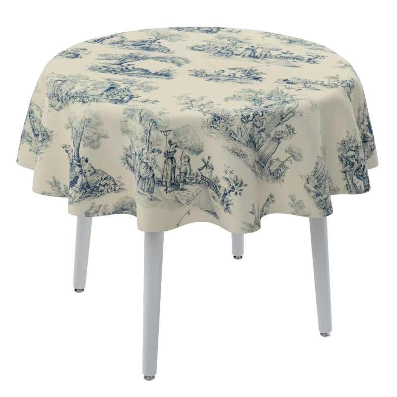 Rund bordduk fra kolleksjonen Avinon, Stoffets bredde: 132-66