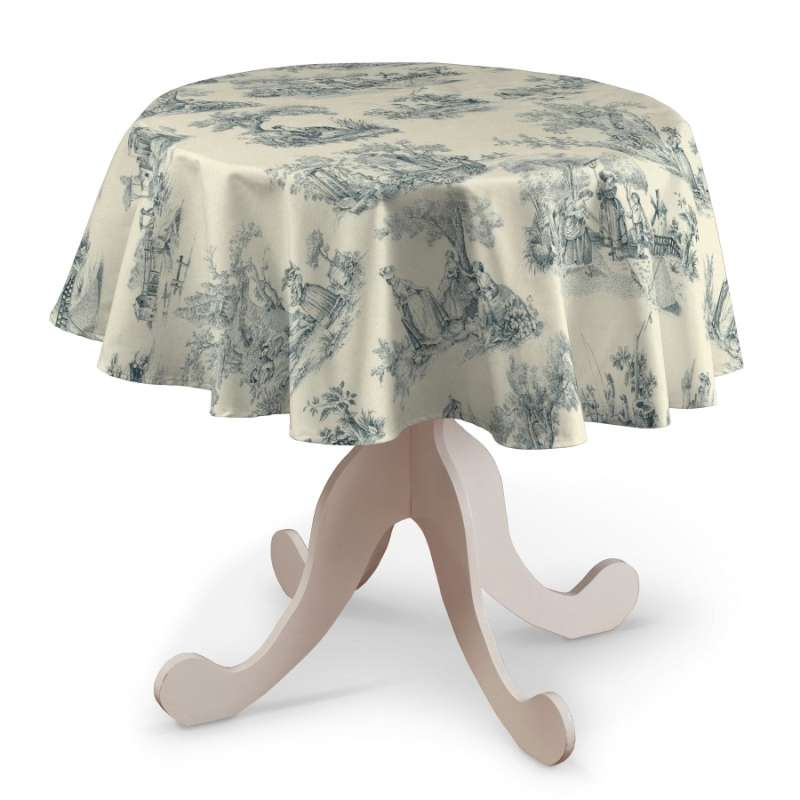 Rund bordsduk i kollektionen Avinon, Tyg: 132-66