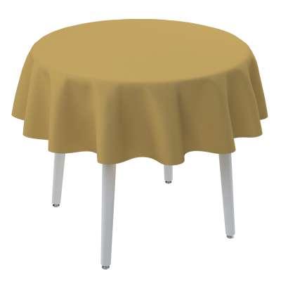 Obrus okrągły 702-41 zgaszony żółty Kolekcja Cotton Panama