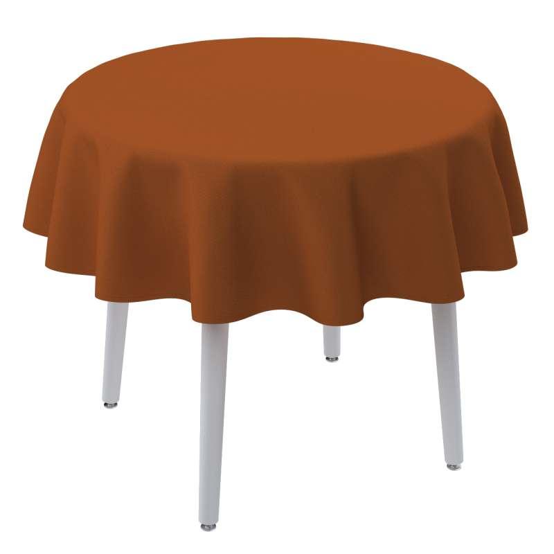 Runde Tischdecke von der Kollektion Cotton Panama, Stoff: 702-42