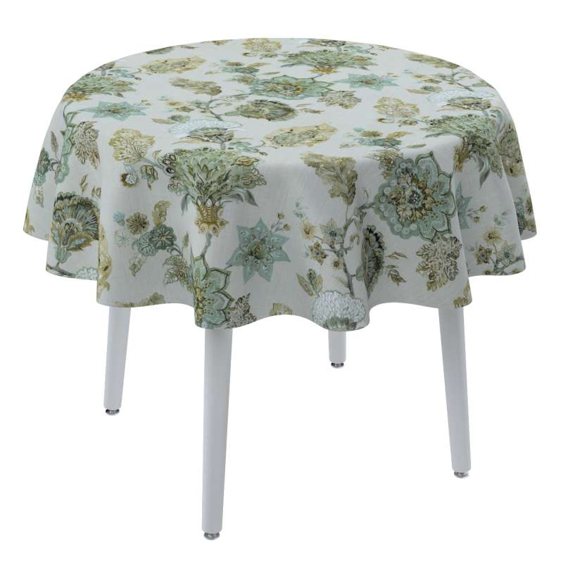 Round tablecloth in collection Flowers, fabric: 143-67