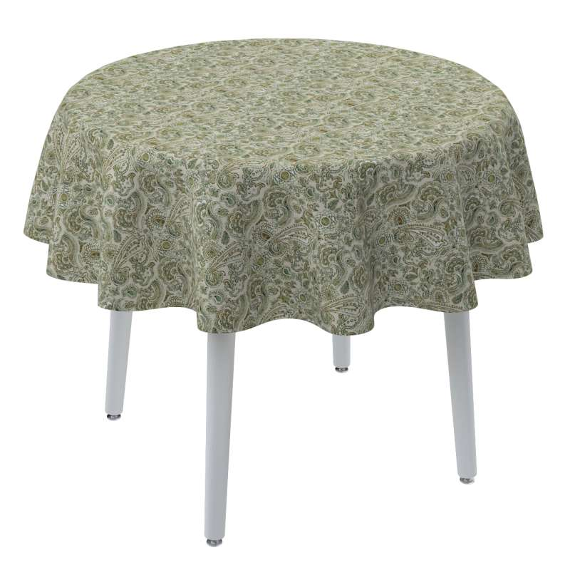 Round tablecloth in collection Flowers, fabric: 143-68
