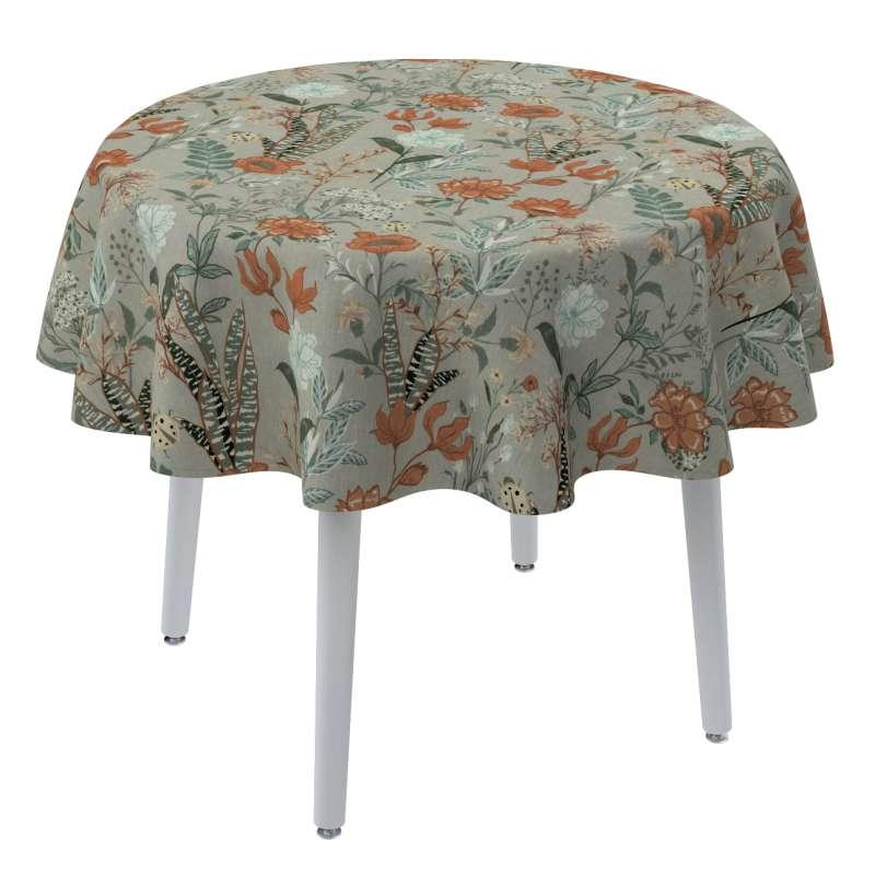 Runde borddug fra kollektionen Flowers, Stof: 143-70