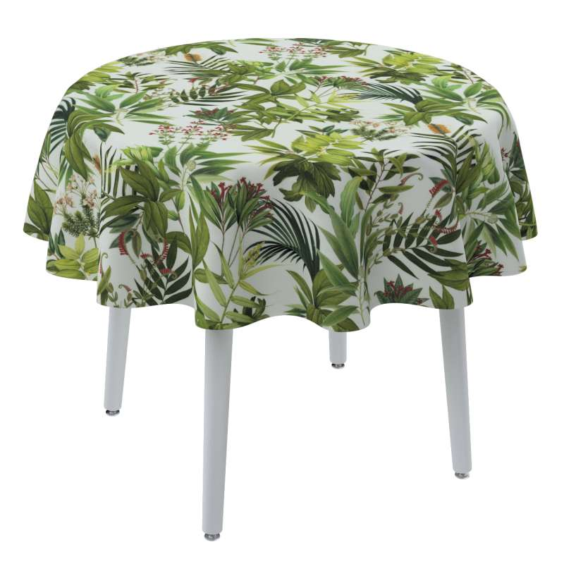 Round tablecloth in collection Tropical Island, fabric: 143-69