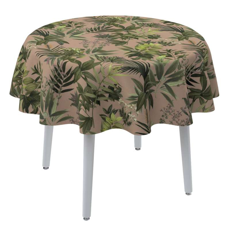 Round tablecloth in collection Tropical Island, fabric: 143-71