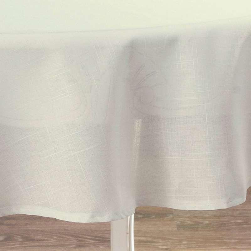 Pyöreä pöytäliina mallistosta Romantik, Kangas: 128-88