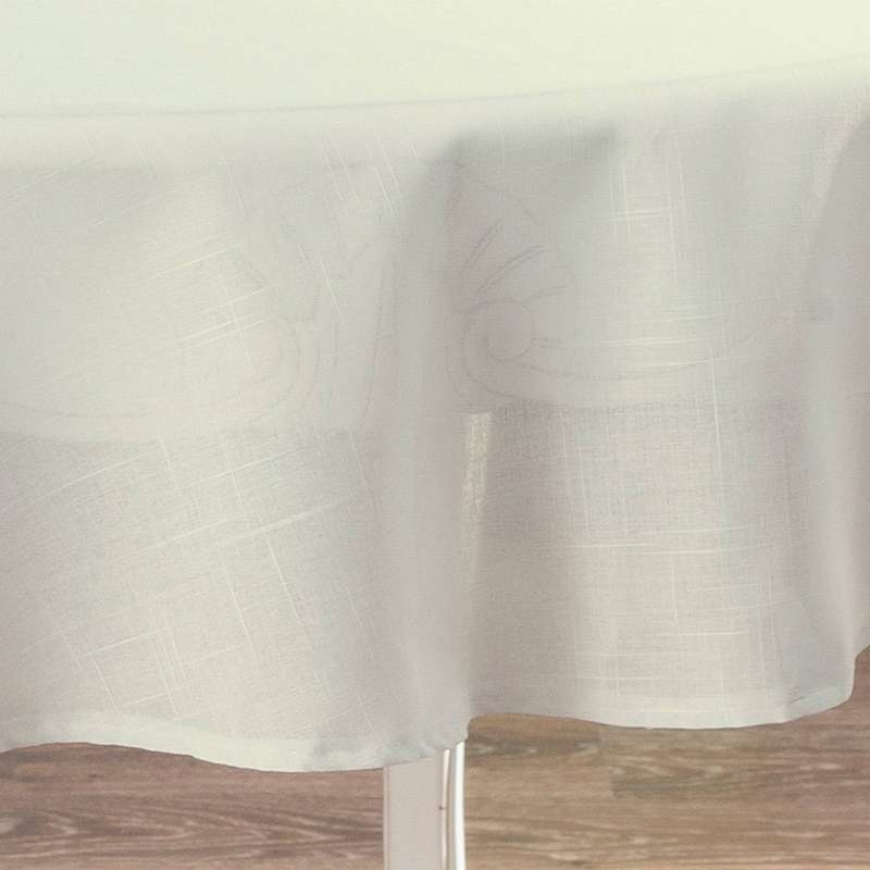 Rond tafelkleed van de collectie Romantica, Stof: 128-88